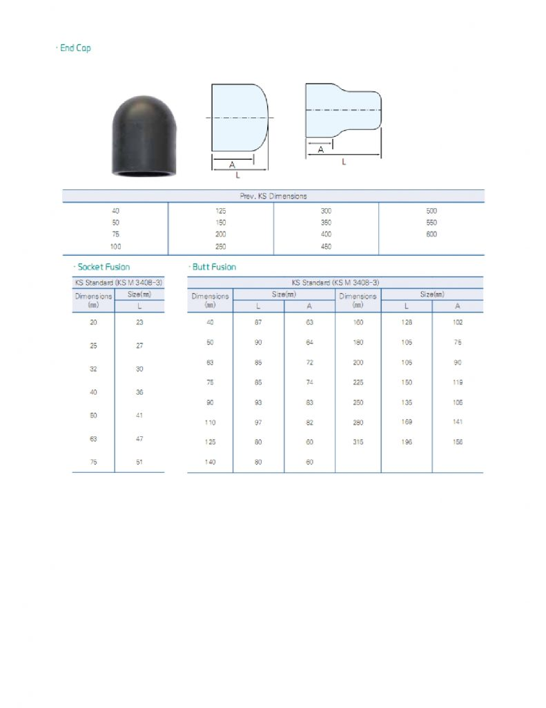 fitting hdpe injection